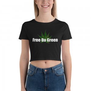 Women's Crop Tee Black