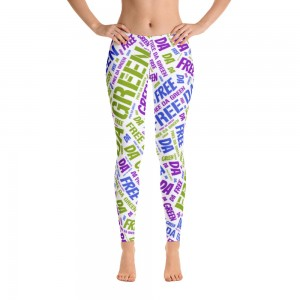 Leggings Purple and Green