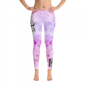 Leggings White and Purple